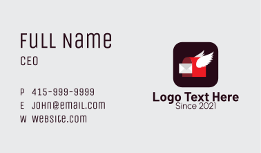 Flying Mail Mobile Application Business Card