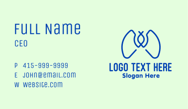 Blue Lungs Clinic Business Card