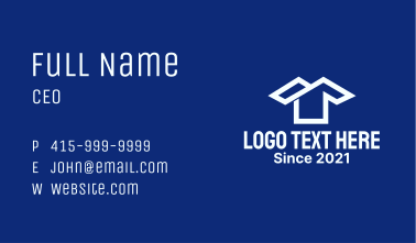 White Shirt Laundry House Business Card
