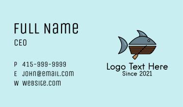 Tuna Fishing Boat Business Card