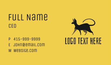 Black Sphynx Cat Business Card