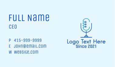 Blue Mic Podcast Business Card