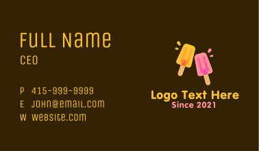 Juicy Popsicle Business Card