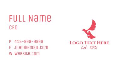 Pink Feminine Dove Business Card