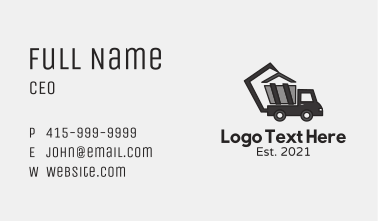 Truck Heavy Machinery  Business Card