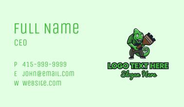 Chameleon Painter Mascot Business Card