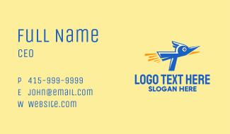 Rocket Blue Bird Business Card