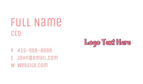 cupcake - Cartoon Pink Business card horizontal design