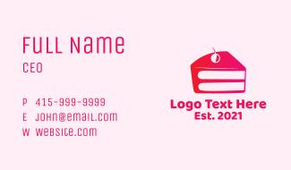 Cherry Cake Slice Business Card