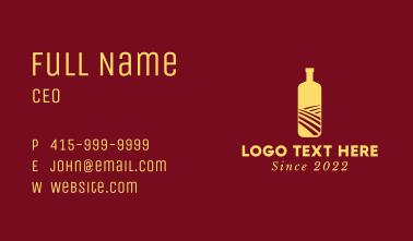 Gold Bottle Drink Business Card