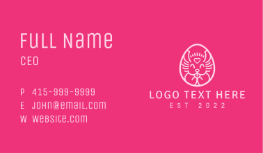 Pink Easter Rabbit  Business Card