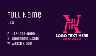 Futuristic Letter X Monogram Business Card