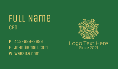 Celtic Decoration  Business Card