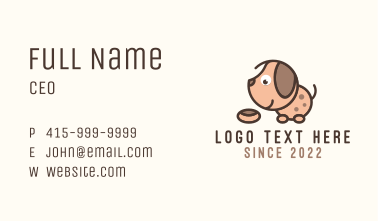 Puppy Dog Food Treat Business Card