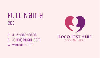 Beauty Heart Person Business Card