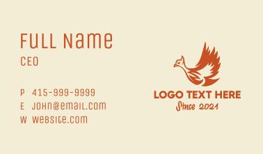 Mythical Phoenix Bird  Business Card