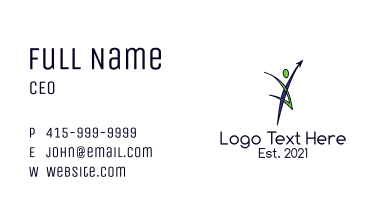 Human Healthy Lifestyle Business Card