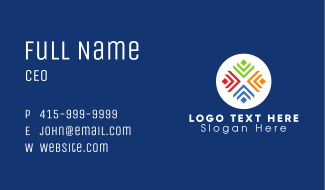 Multicolor Letter X Business Card