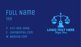 Justice Scale Tech  Business Card