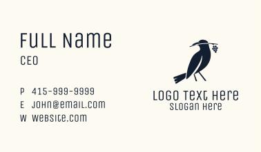 Blue Crow Grapevine Business Card