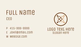 Interracial Emblem  Business Card