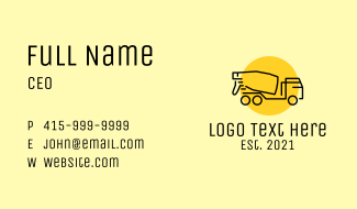 Concrete Mixer Truck Business Card