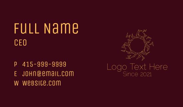 mayan - Geometric Sun Origami Business card horizontal design