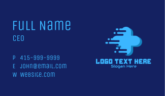 Cross Game Console  Business Card