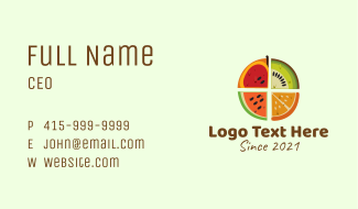 Fruit Slice Business Card