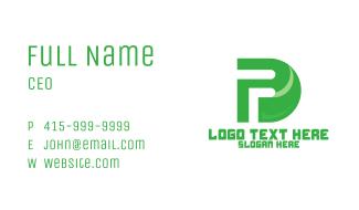 Green Nature PD Monogram Business Card