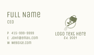 Nature Sprinkling Can Business Card
