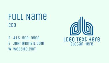 Blue Modern Lungs  Business Card