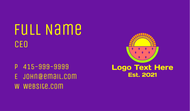 Watermelon Sunset  Business Card