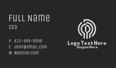 Keyhole Security Tech Business Card