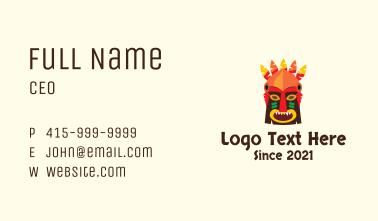 Tiki Tribal Mask Business Card