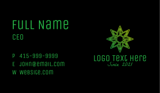 Green Environmental Star Business Card