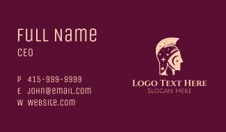 Astral Gladiator Helmet Business Card