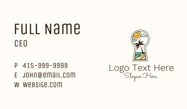 Tropical Beach Keyhole Business Card