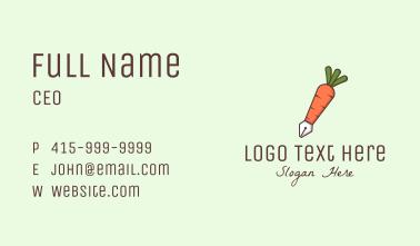 Carrot Writing Pen Business Card