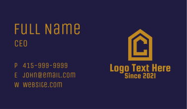 Deluxe Letter C Realty  Business Card