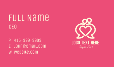 Communication Lovely Couple Business Card