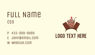 Sweet Chocolate Milkshake  Business Card