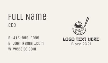 Panda Asian Noodle Business Card