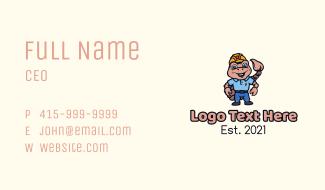 Scorpion Engineer Mascot Business Card