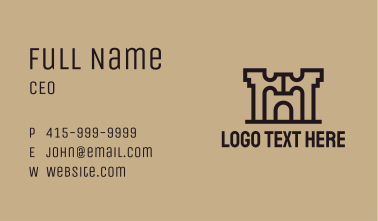 Industrial Arch Building  Business Card