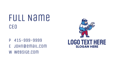 Eagle Wrench Mechanic Business Card