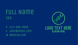 Nature DNA Strand Business Card