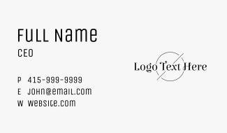 Classic Black Wordmark Business Card