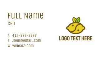 Yin Yang Lemon Fruit Business Card