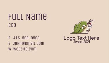 Wild Snail Mascot  Business Card